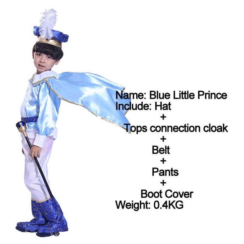 Kids Jongens India Arabische Aladdin Prins Koning Kostuum Kind Cosplay Stage Performance Masquerade Party Halloween Arabische Kleren Set