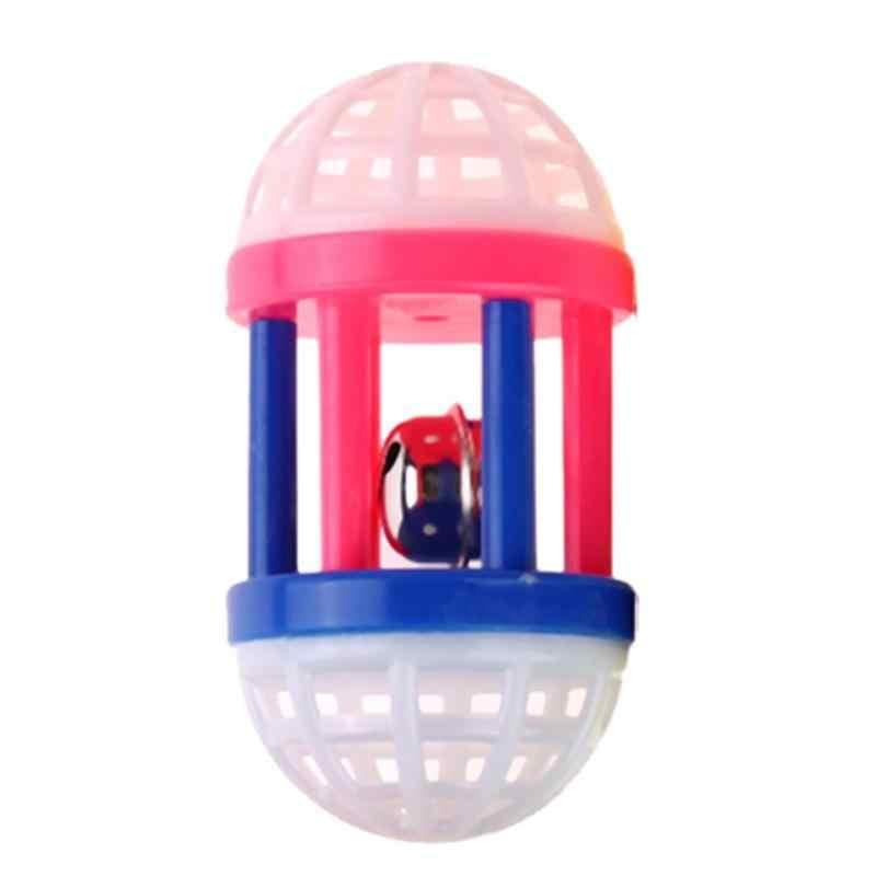 플라스틱 다채로운 고양이 장난감 벨 공 놀이 고양이 재미 게임 애완 동물 대화 형 동물 운동 재미 있은 고양이 장난감 공