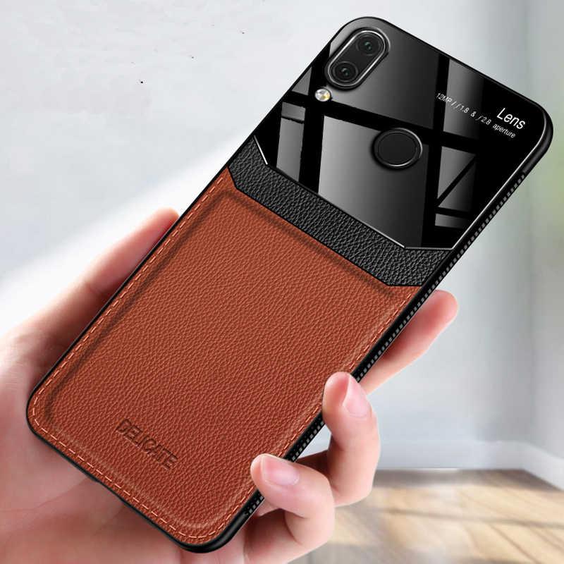 I coque, чехол, чехол, для HuaWei Honor 8X на кожаном зеркальном стекле Силиконовый противоударный телефон роскошные оригинальные мягкие милые чехлы