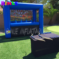 Custom color inflatable shooting range with floating targets archery games inflatable hover balls shooting games for adults