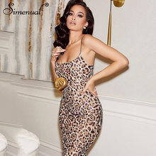 Simenual Leopard Fashion Sleeveless Maxi Dress Wom