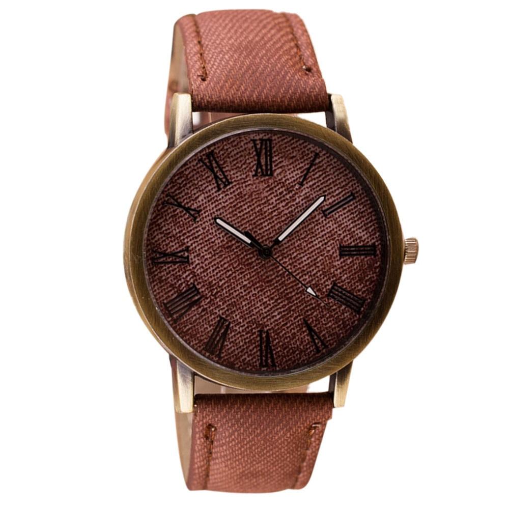 2020 Simple Watch Business Men Retro Vogue Male WristWatch Cowboy Fashion Leather Analog Quartz Watch Man Clock 2