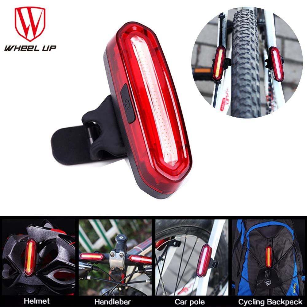 Wheel Up Bike Taillight Waterproof Riding Rear Light Led Usb Chargeable Mtb Bike Headlight Cycling Light Tail-lamp Bicycle Light