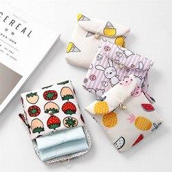 Гигиеническая прокладка мешок стильная футболка с изображением персонажей видеоигр хлопчатобумажной ткани салфетка сумка для хранения бо...