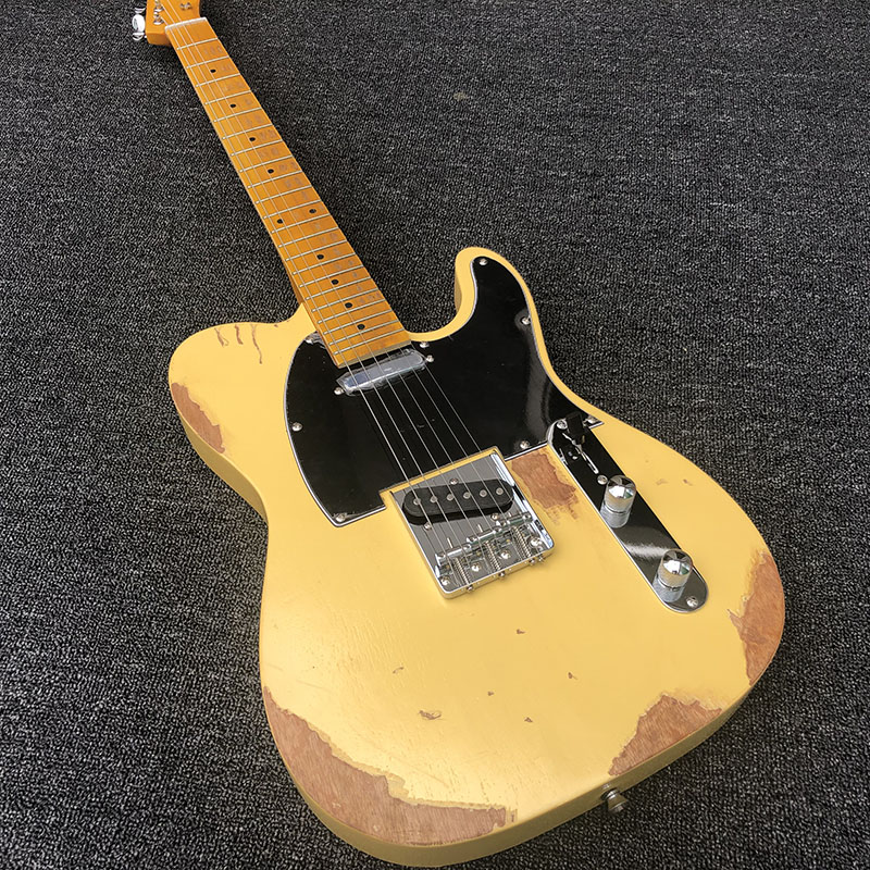 High quality Relic electric guitar, TL style,Alder body with Maple neck,Custom electric guitar,free shipping