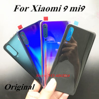 100% Original Back Battery cover For Xiaomi 9 MI9 Housing Door Rear Mobile phone shell with Camera Glass lens Replacement parts