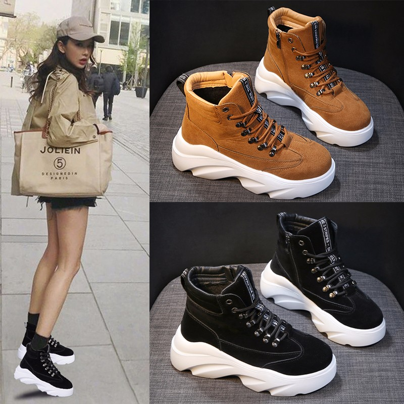 YRRFUOT Sneakers For Women Lace-up Outdoor Woman Trend Shoes Vulcanized Shoes Zapatillas Mujer 2019 New Fashion Shoes For Women