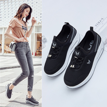 New Lady Thick-bottomed Rocking Casual Shoes Female Soft Bottom Sports Breathable Outdoor Walking