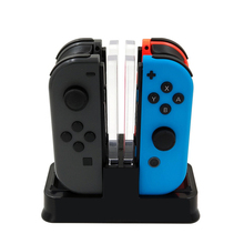 For Nintendo Switch Joy-con Controller LED Charging Dock 4 in 1 Charger Pro Gamepad Stand NS