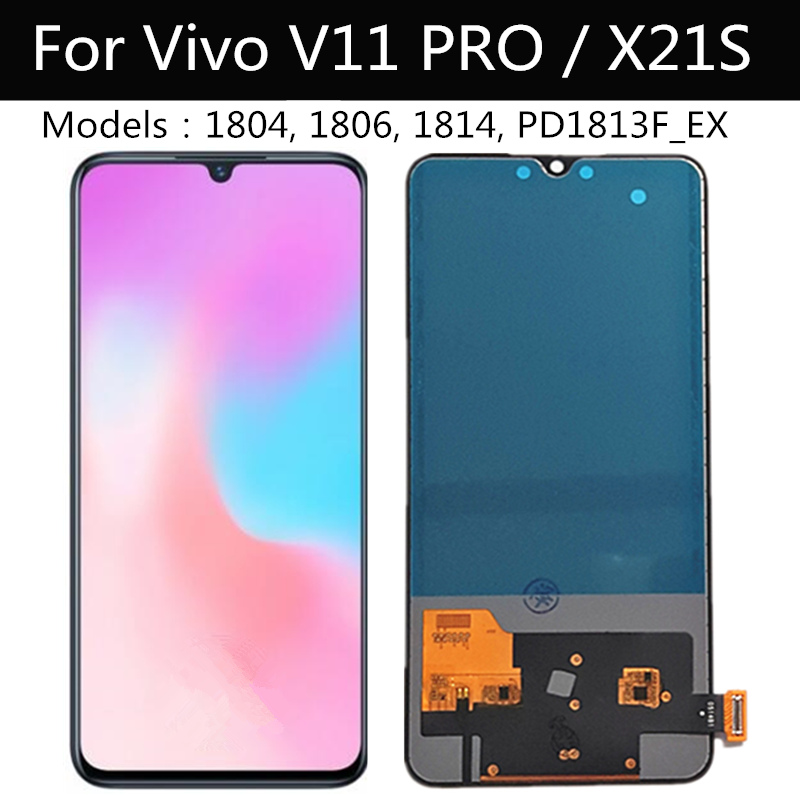 For VIVO X21S V1814 LCD Display Touch Screen Digitizer Assembly For Vivo V11 PRO 1804 1806 Replace Parts For Vivo V11pro Lcd