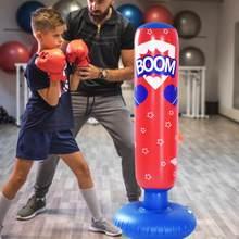 Saco de boxeo inflable ligero de 170cm y 125cm para niños, saco grueso de PVC para entrenamiento, gimnasio