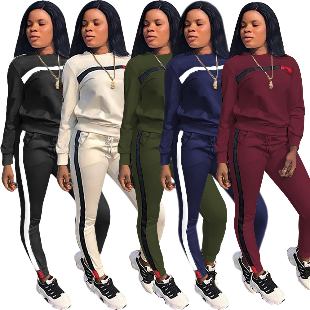 Retro Autumn Casual Women Long Sleeve Hoodies Tops Pants Tracksuit Sweatshirt Pant Suit Jogging Set Outwear Winter Warm New