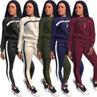 Retro Herbst Casual Frauen Lange Hülse Hoodies Tops Hosen Trainingsanzug Sweatshirt Hose Anzug Jogging Set Outwear Winter Warm Neue