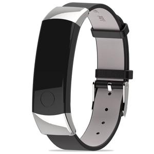 Image 3 - 화웨이 시계 명예 밴드 3 밴드 손목 스트랩 시계 밴드에 대한 정품 가죽 스트랩 명예 3 스마트 팔찌 팔찌 액세서리