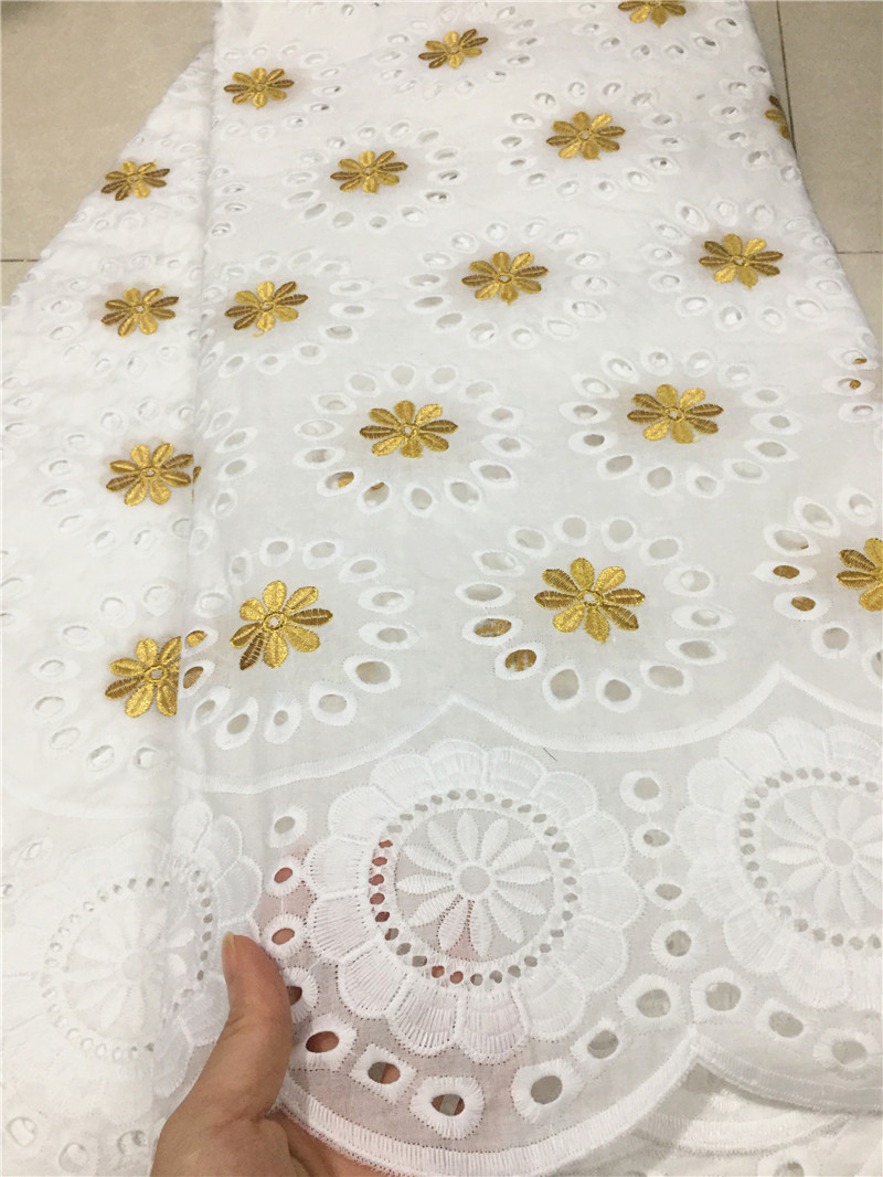 Blesing Swiss Voile Lace In Switzerland White Swiss Voile Lace With Holes African Lace Fabric Cotton Fabrics For Dress 5yards