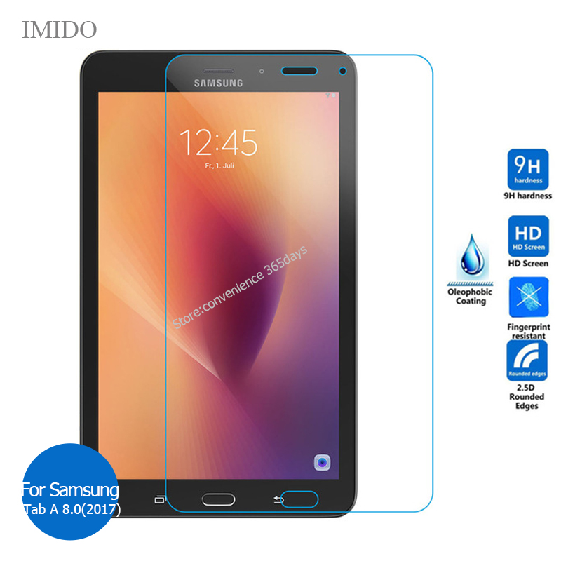 For Samsung Galaxy Tab A 8.0 2017 Tempered Glass Screen Protector 9h Safety Protective Film On TabA 8 SM T380 T385 T 380 385