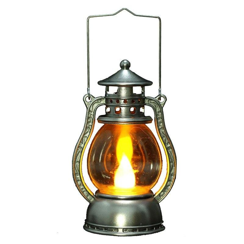 Керосиновая лампа на Хэллоуин с ручкой, Рождественская керосиновая лампа, переносные праздничные вечерние принадлежности # H