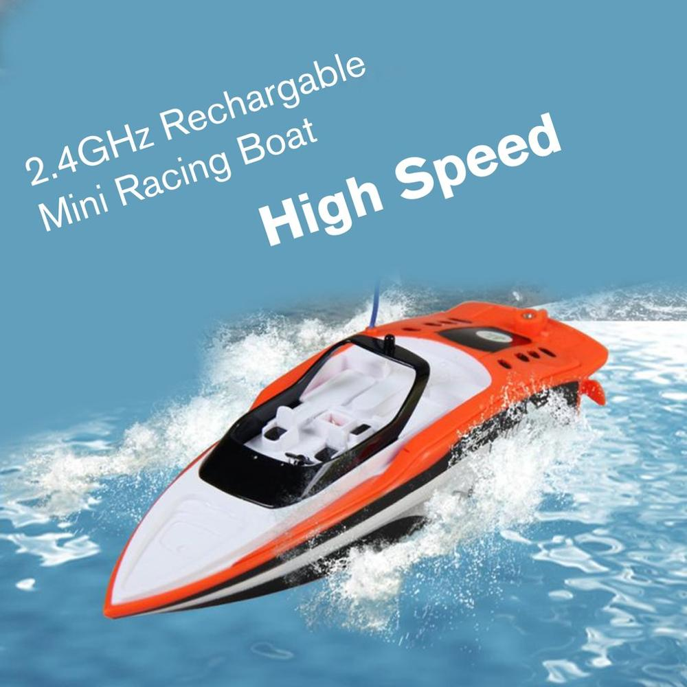 3392M 2.4GHz Rechargable Mini Electric Sport High Speed RC Boat Remote Control Boat For Children Toys Kids Gift
