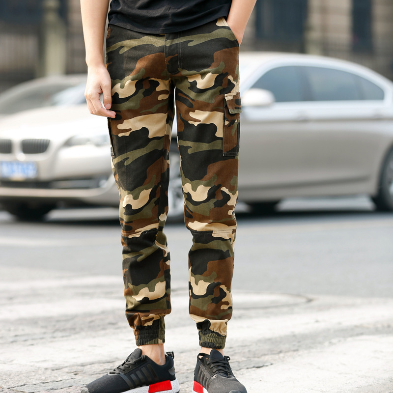 Spring And Autumn Outdoor Multi-pockets Pure Cotton Bib Overall Men's Slim Fit Men's Trousers Fashion Camo Pants MEN'S Casual Pa