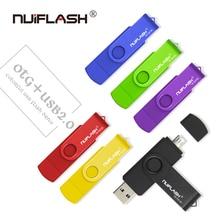 Nuiflash USB flash drive OTG high Speed stick 64 GB 32 GB 16 GB 8 GB 4 GB externe speicher doppel Anwendung Micro USB Stick