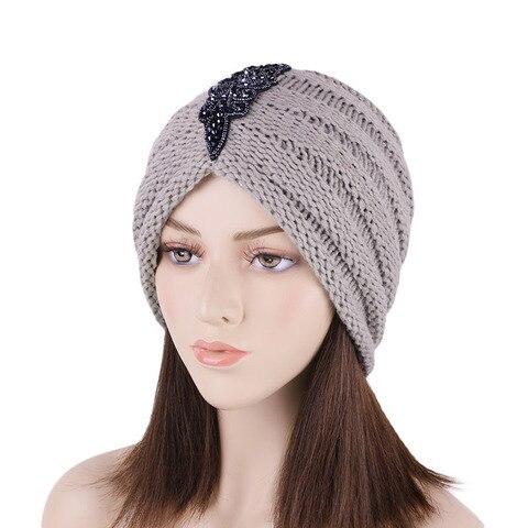 Acessórios para o Cabelo Quente Turbante Boné Feminino Outono Inverno Nova Moda Bandana Femme nó Turbantes Headwear Presentes