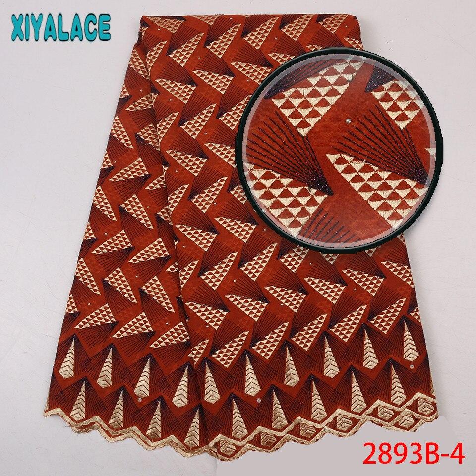 Derniers lacets africains 2019 haute qualité nigérian sec dentelle tissu coton dentelle tissu avec des pierres pour les femmes KS2893B-4