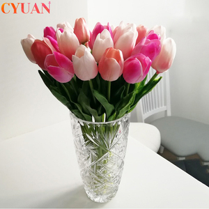 10pcs Garden Tulip Artificial Flowers Tulipan Real Touch Flowers Festival Supplies Home Decor Fake Flowers Bouquet Wedding Decor(China)
