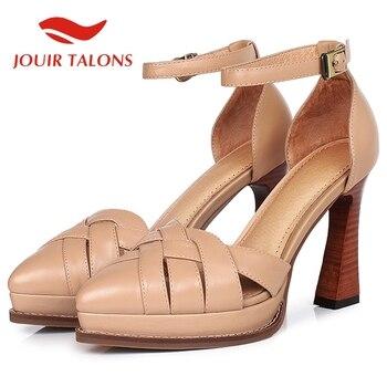 JOUIR TALONS 2020 New Fashion Genuine Leather Women Sandals Platform Strange Style Heels Pumps Summer Casual Woman Shoes