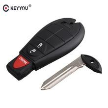 KEYYOU 3 düğmeler araba uzaktan akıllı anahtar 433Mhz DODGE şarj cihazı Challenger Durango Grand Caravan yolculuk M3N5WY783X veya IYZ-C01C