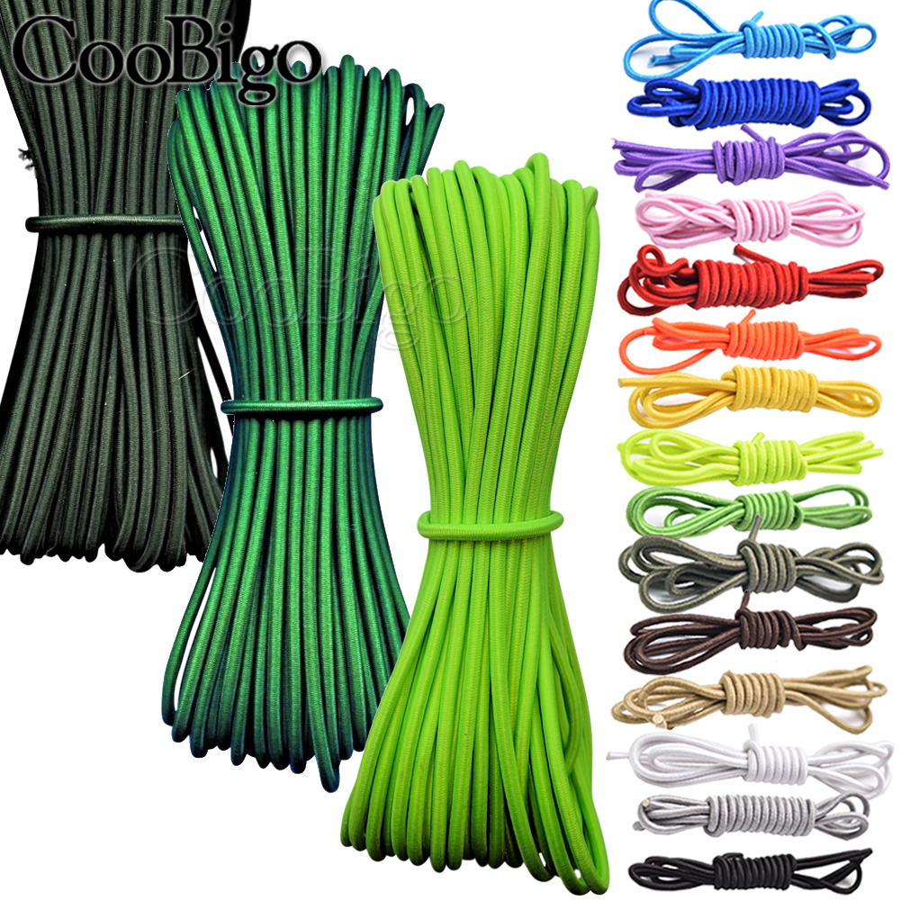 5Meters 3mm Colorful Single Core Round Elastic Band Round Elastic Rope Rubber Band Elastic Line DIY Sewing Accessories 5.5yard