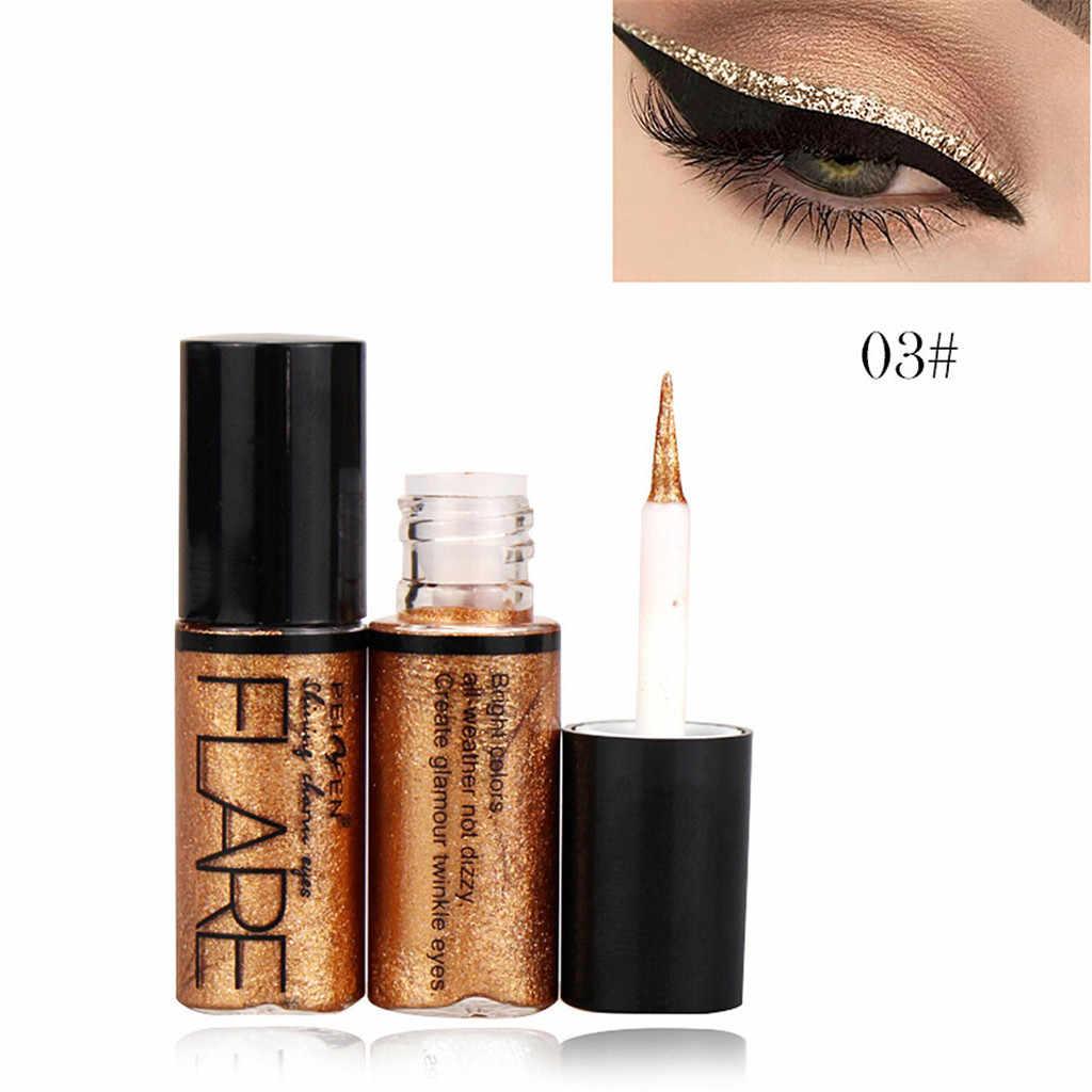 Portable 5 Warna Liquid Eyeshadow Metallic Shiny Smoky Eyes Eyeshadow Tahan Air Glitter Eyeliner Makeup Ins Gaya Eyeshadow