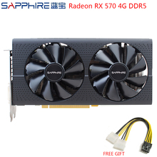 Safir AMD Radeon RX 570 4GB oyun grafik kartları RX570 256bit GDDR5 ekran kartı PCI Express 3.0 masaüstü için oyun PC için kullanılan