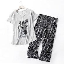 Conjuntos de verano Pantalones cortos Pijama mujer de talla grande 100kg bonito manga corta acogedor algodón casual ropa de casa pijamas para mujer