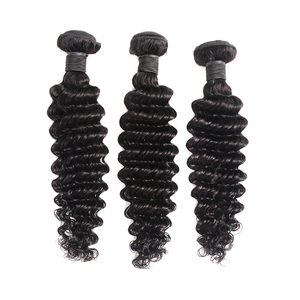 Image 3 - Miss Rola Hair Malaysian Deep Wave 3 Bundles With Closure Natural Color 100% Human Hair 8 26 Inches Non Remy Hair Extensions