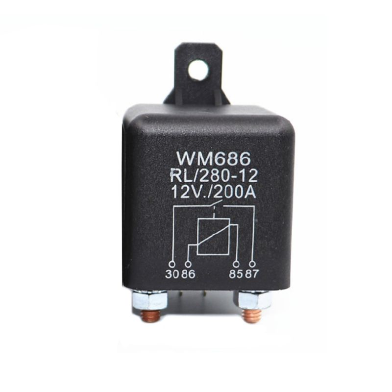 Battery Isolator Relay 12V 4-Pin WM686 Start Relay Heavy Duty Car ON//Off Switch Relay RL//180 200A