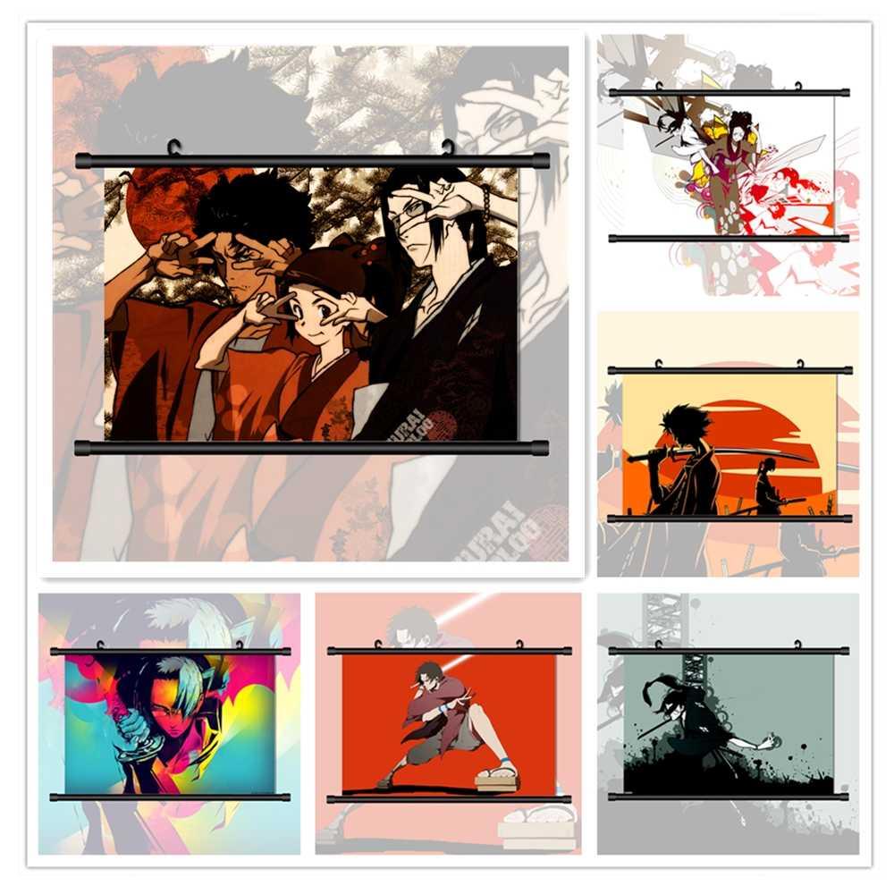 samurai champloo mugen jin kasumi fuu anime manga hd print wall poster scroll