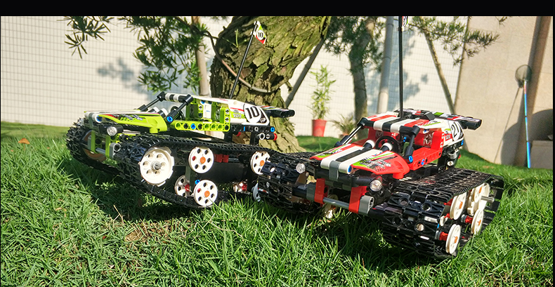 MOULD KING Crawler RC Tracked Racer Compatible 42065 MOC 13023 13024 Building Block 13