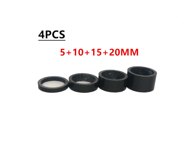 4PCS full carbon 28.6/31.8mm  bicycle carbon spacer hollow Ultra light headset parts cycling Washer Bicycle Headset Stem Spacers