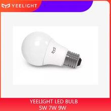 Yeelight หลอดไฟ LED E27 สีขาวเย็น 25000 ชั่วโมง 5W 7W 9W 6500K E27 หลอดไฟ 220V สำหรับเพดานโคมไฟ/โคมไฟตั้งโต๊ะ