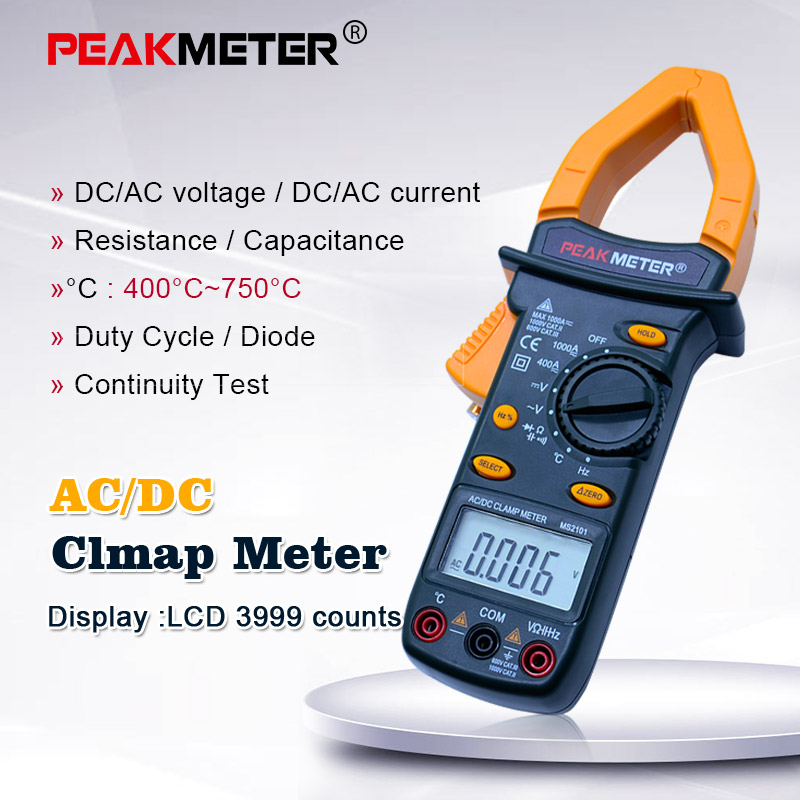 PEAKMETER PM2101 Professional Digital Clamp Meter AC/DC Resistance Insulation Tester Auto power off/ Low battery indication clamp meter digital clamp meter digital clamp -