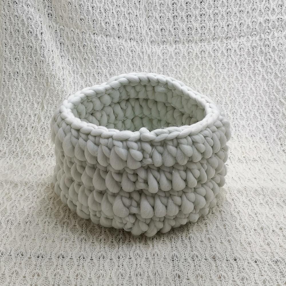 150x100cm Baby Posing Layer Backdrop Blanket+Honey Pot Nest Basket Stuffer Shape  Knitted Basket for Newborn Photography Prop