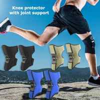 1 пара силовых подъемных суставов поддержка наколенников отличная эластичная лента и сплав пружинный стабилизатор силы отскока наколенник
