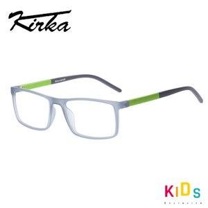 Image 3 - Kirka Kinder Gläser TR90 Flexible Brillen Rahmen Kinder Optischen Rahmen Kinder Grau Kinder Gläser Für 6 10 Jahre Alt