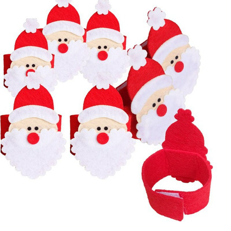 Christmas Napkins Decorations Stereo Santa Non-woven Cute Home Hotel  Table Napkins Buckle