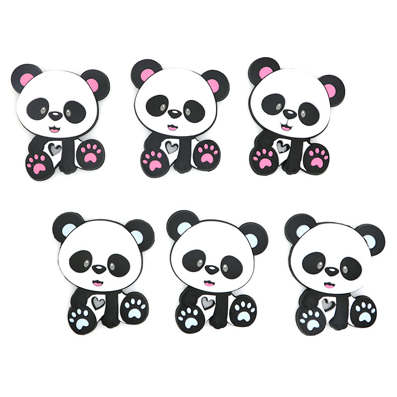 Kovict  5/10pcs Chinese panda Silicone Baby Teether rodent Baby Teething Toys Chewable Animal Shape Baby Products Nursing Gift