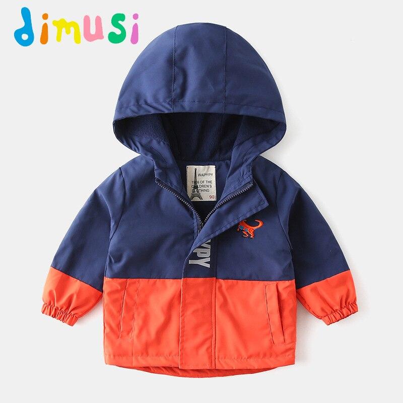 Куртка-бомбер DIMUSI детская, Повседневная теплая ветровка с капюшоном, в стиле пэчворк, на осень-зиму, 8 лет