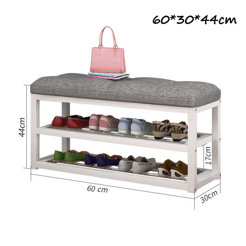 2-Ярусный стул для хранения обуви, Простая Стойка для обуви для гостиной, органайзер для обуви, подставка для сидений в коридоре, держатель для полки