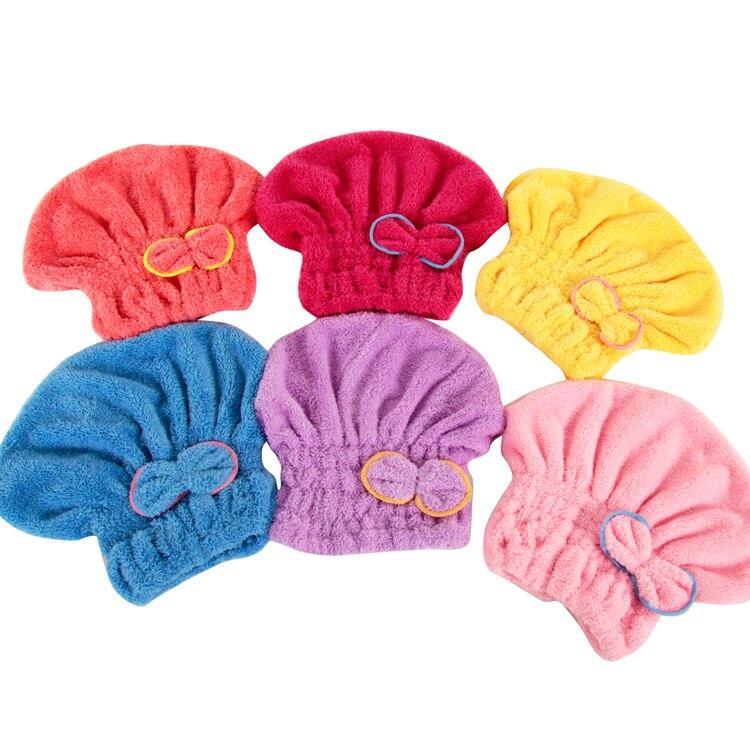 Soft Microfiber Solid Quickly Dry Hair Hat Hair Turban Women Girls Ladies Cap Bathing Drying Towel Head Wrap Hat