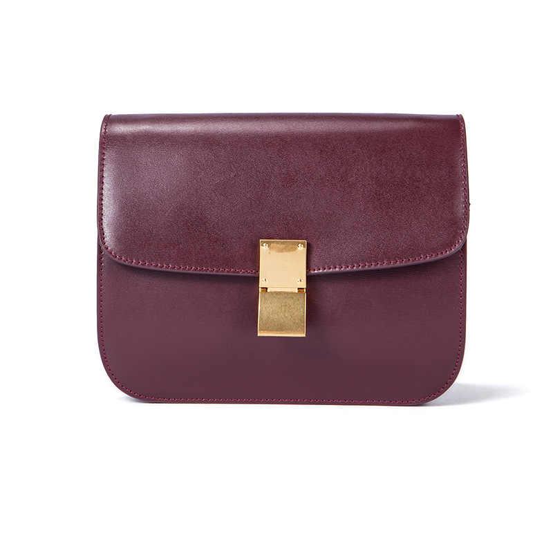 Hakiki deri Tofu kadın çanta lüks çanta kadın çanta tasarımcısı küçük Flap kare çanta kadınlar için rahat çanta 2019 omuzdan askili çanta