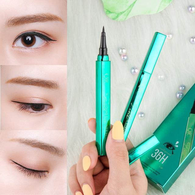 2020 Korean Black Liquid Eyeliner Waterproof Long-lasting Make Up Women Comestic Eye Liner Pencil Makeup Crayon Eyes Marker Pen 1